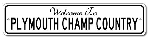 Plymouth Champ - Welcome to Car Country Sign - Aluminum 4