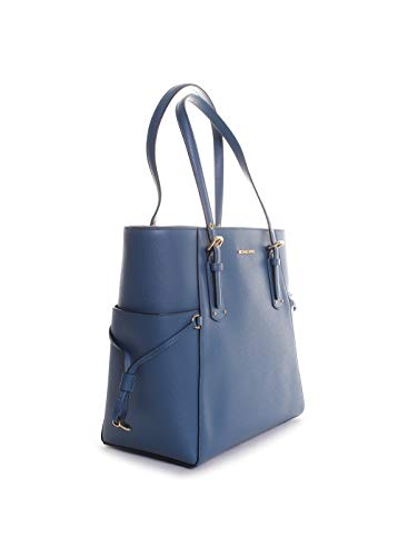 Michael Kors Voyager East West Leather Tote Handbag in Dark Chambray by Michael Kors (Image #1)