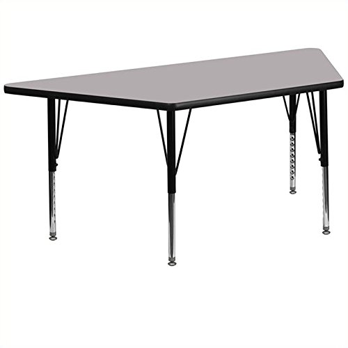 Bowery Hill Trapezoid 25.13'' Activity Table in Gray by BOWERY HILL (Image #3)