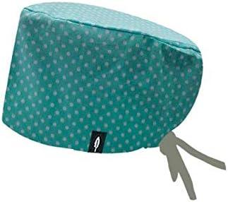 Modelo: AQUA - Estampado - Gorro de Quirófano ROBIN HAT - Pelo Largo - Ajustable - 100% algodón (Autoclave)