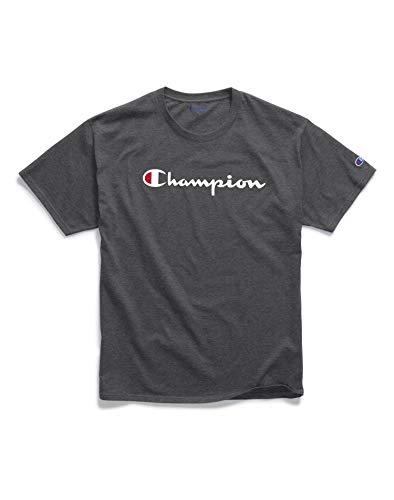 Champion Men's Classic Jersey Graphic T-Shirt, Granite Heather, X-Large