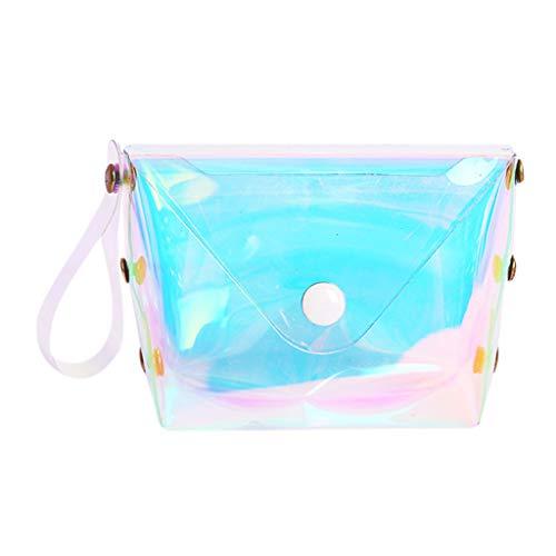 Barlingrock Coin Purse Pouch Bag for Credit Card, ID Card, Keys, Headset, Lipstick Women Wallets Short Fashion Mini Jelly Lucency Coin Purse Card Holder Bag ()
