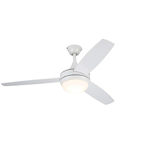 Beach Creek 44-in White Integrated Led Indoor Downrod Or Close Mount Ceiling Fan with Light Kit and Remote (3-Blade)