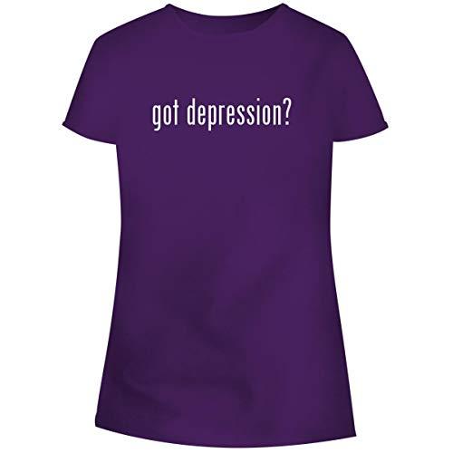 One Legging it Around got Depression? - Women's Soft Junior Cut Adult Tee T-Shirt, Purple, Small