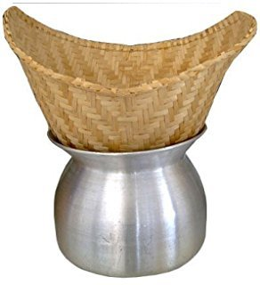 Set of Sticky Rice Steamer Pot and Basket Cook Kitchen Cookware Tool
