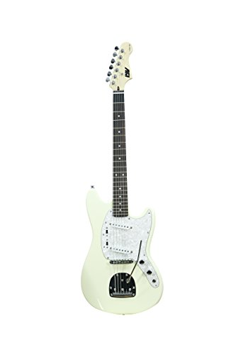 ivy ISMF -200 VW Strat Solid-Body Electric Guitar, Vintage White