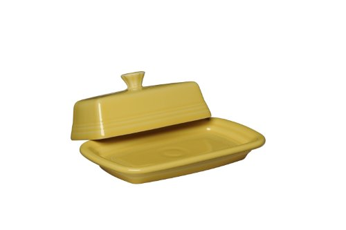Fiesta Covered Butter Dish, X-Large, Sunflower