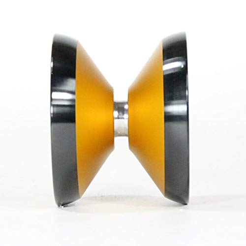 yoyofriends Hummingbird Yo Yo - 7068 Aluminium with Stainless Steel Rims (Orange with Black Ring) by yoyofriends (Image #3)