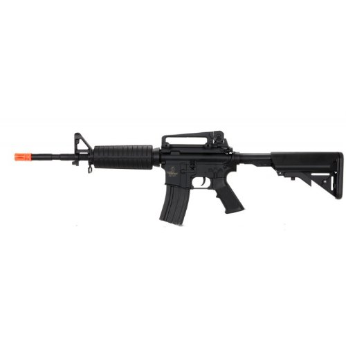 lancer tactical lt-03b electric airsoft gun fps-400 m4a1 full & semi auto full metal gearbox adjustable stock(Airsoft Gun)