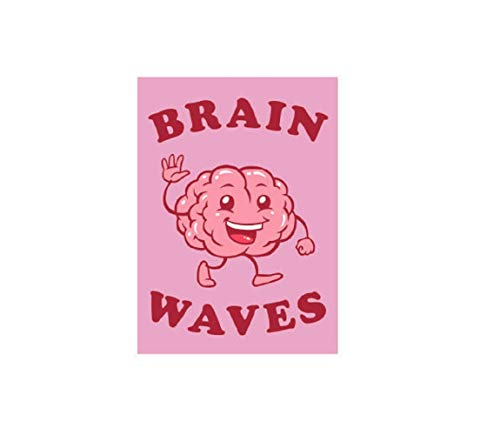 - Brain Waves - Fridge Magnet, Exclusively Licensed Original Animated Artwork