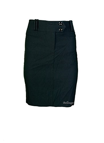 Double Button Front Skirt - 4