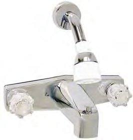 RV Trailer Camper Fresh Water 8 Tub & Shower Diverter PHOENIX P8031-I