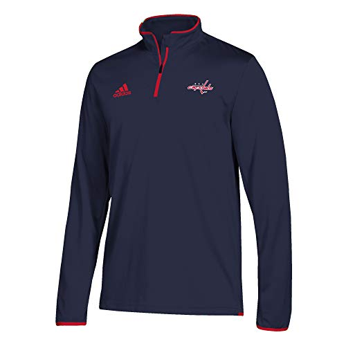 adidas Washington Capitals NHL Authentic 1/4 Zip Pullover (Medium)
