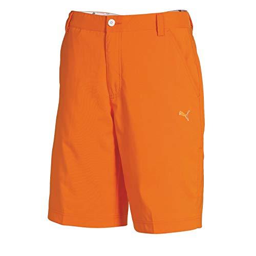 Puma Golf Boy's Tech Bermuda, Vibrant Orange, ()