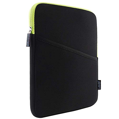 Lacdo Shockproof Tablet Sleeve Case for 10.2-inch New IPad 2019   11 Inch New IPad Pro 2018   IPad Pro 10.5 Inch   9.7 Inch New IPad   IPad Air 2 Protective Bag, Fit Apple Smart Keyboard, Green/Black