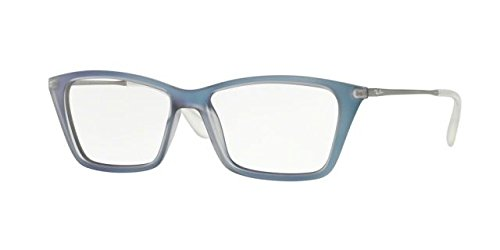 Ray-Ban Women's RX7022 Shirley Eyeglasses Iridescent Azure - Prescription Ban Ray