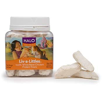 Halo Liv-a-Littles Natural Treats for Dogs and Cats, Freeze-Dried Chicken Breast Protein