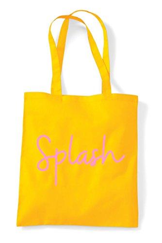 Tote Shopper Bag Splash Yellow Statement Hashtag Quote wqAqnSUT