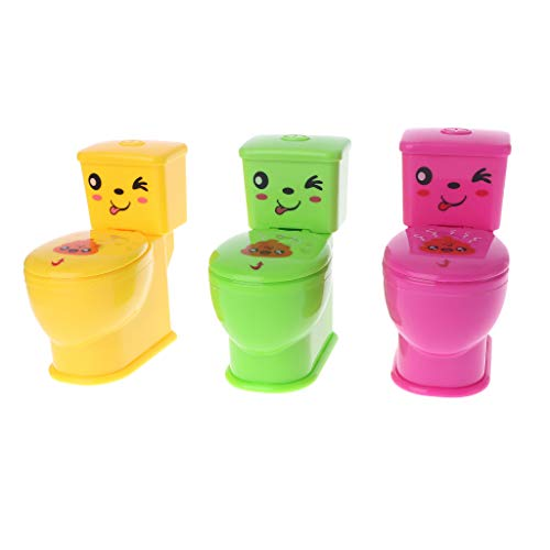 Aiyouxi Tricky Toilet Funny Halloween Trick Miniature Mini Gadgets April Fool's Day Toys Children Kids Adult Seat Toy New Joke Gifts Simulation Expressions -