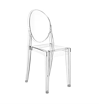 Kartell Victoria Ghost Chair Transparent: Amazon.co.uk: Kitchen & Home