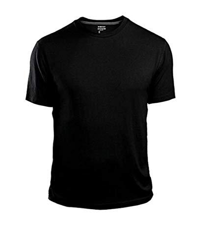 GAP Men's Crew Neck Cotton T Shirt Everyday Quotidien Solid Color (Black, Medium) (Black Everyday T-shirt)