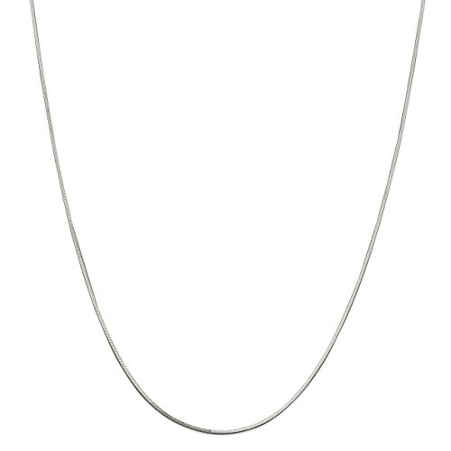 Snake Square Chain Bracelet (Lex & Lu Sterling Silver 1mm Square Snake Bracelet or Necklace Chain-Prime)