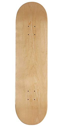 "CCS Logo Blank Skateboard Deck - Natural Wood/Colors/Multiple Sizes (Natural Wood, 7.50"")"