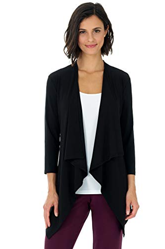 Black Travel Jacket (Rekucci Travel in Style - Women's Essential Fluid Throw Over Jacket (X-Large,Black))