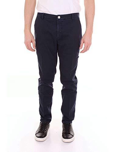Simmon Azul Algodon Pantalón Hombre Pe122sdarkblue Yan d1tZd