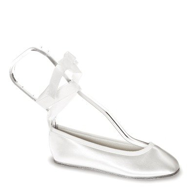 Touch Ups Girls' Gypsy Slip-on Shoes,White Satin,3 M