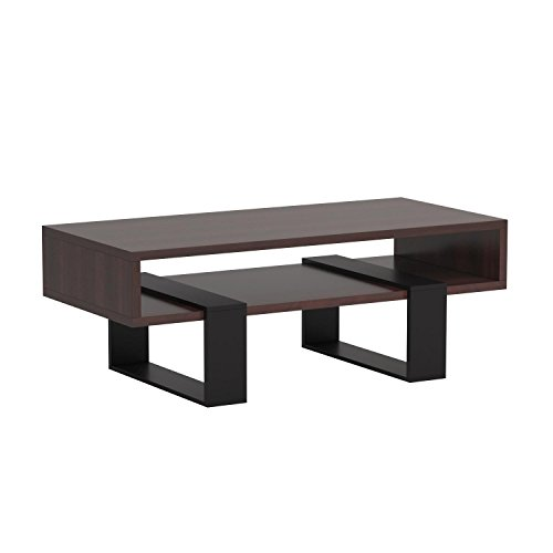 ioHOMES Monroe Rectangular Coffee Table, Walnut and Black by HOMES: Inside + Out (Image #7)