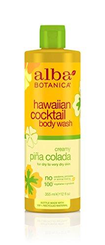 Alba Botanica Hawaiian, Pina Colada Cocktail Body Wash, 12 Ounce