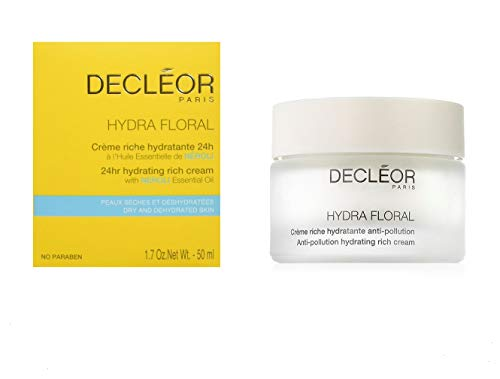Decleor Hydra Floral Hydrating Rich Cream with Neroli Essential Oil, 50ml (Large Floral Cream)