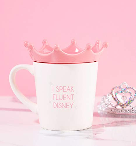 Off White One Size Half Moon Bay Taza Disney Princess Crown