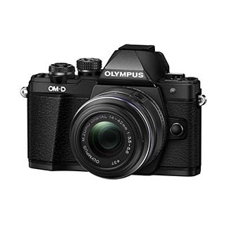 Olympus OM-D E-M10 Mark II Mirrorless Digital Camera with 14-42mm II R Lens (Black) by Olympus