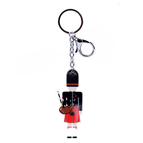 Amazon.com  Scottish Large Red Tartan Kilt Bagpipe Piper Keyring Charm   Clothing e98e5e7a38ddb