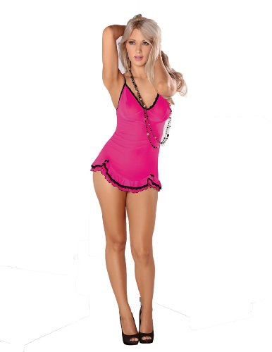 hot pink and black dama dresses - 8