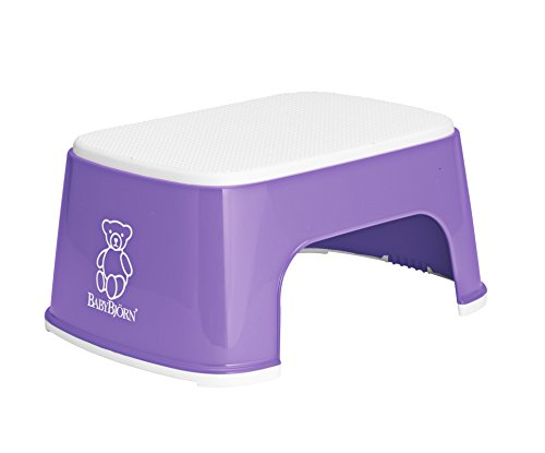 BABYBJORN Safe Step Stool, Purple/White