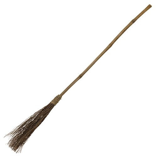 amscan Classic Witch Broom One Size, - Witch Costume Broom Accessory