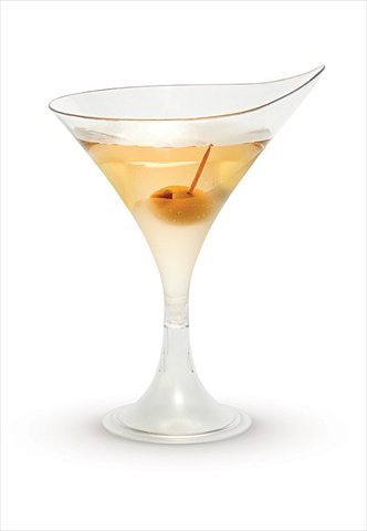 Rosseto L50200 Plastic Liteware Martini Glass, 5.5-Ounce, Clear (Case of 144)