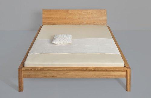 Massivholzbett Cara - klares Design und vollendete Form - Eiche massiv, Größe:180x220cm