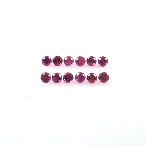 Natural Ruby Approximately 0.25 Carat Round 1.5mm (0.25 Ct Gems)