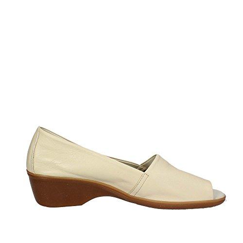 Cinzia Soft 8040 Zapatos con Punta Abierta Mujer Beige