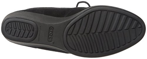 Crocs Shootie Suede Black Wedge Leigh Femme rUwvxSqr