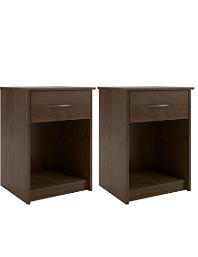Set of 2 Nightstand MDF End Tables Pair Bedroom Table Furniture in Northfield ()