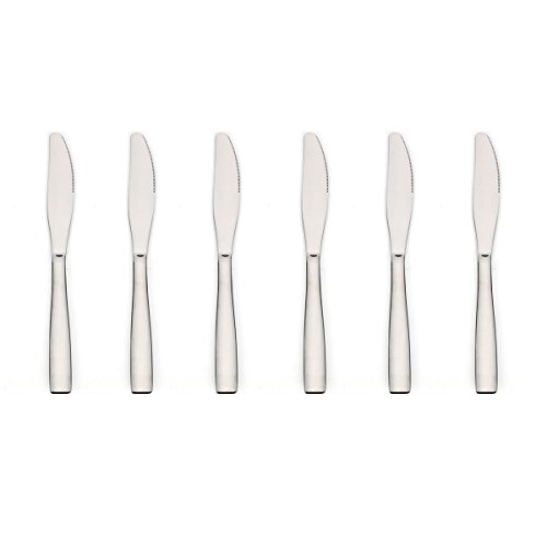 Flatware Butter Knife - Dinner Knives, Lekoton 6 Pieces Stainless Steel Butter Knives Mirror Polish Dinner Knife Flatware Set Tableware Silverware Set Utensils Cutlery Set for Home Kitchen Restaurant