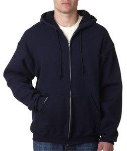 Fruit Of The Loom Supercotton Adult Full-Zip Hooded Sweatshirt (J. Navy) (2X) - Loom Adult Supercotton