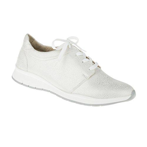 tessamino Damen Sneaker aus Echtleder | modisch | Weite G & H | für Einlagen Weiß