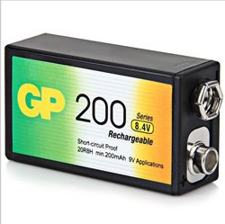 Replacement For GP17R8H-LAC1 GP NIMH 9V 1PK Battery Accessory 10 PACK by Technical Precision