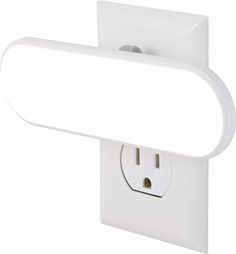 GE Ultrabrite LED Light Bar 100 Lumens, Plug-in, Dusk-to-Dawn Sensor, Auto/On/Off Switch, Home Décor, for Elderly, Ideal for Bedroom, Bathroom, Nursery, Kitchen, Hallway, White, 12498, 1 Pack,